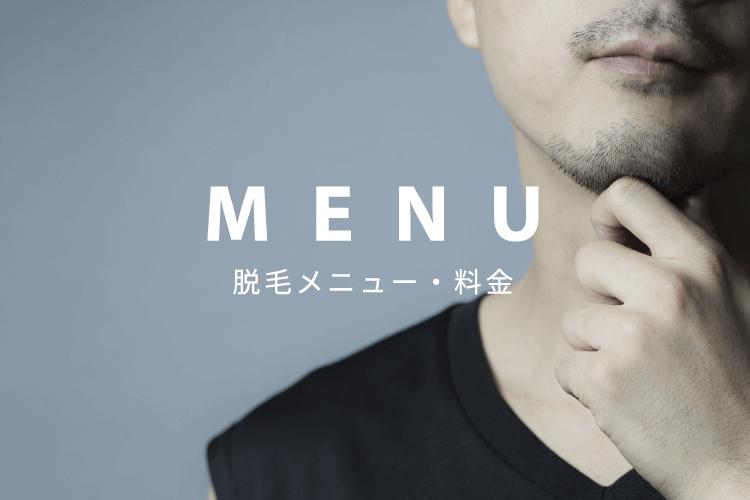 MENU 脱毛メニュー・料金